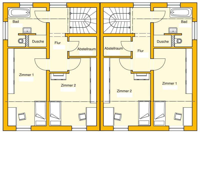 Doppelhaus-Grundriss-OG